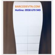 Cuộn giấy decal in mã vạch 2 tem nhãn barcode PVC 50×30
