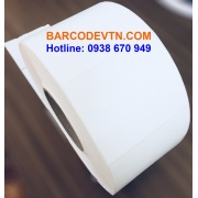Giấy in mã vạch PVC 2 tem 45×70 dạng cuộn