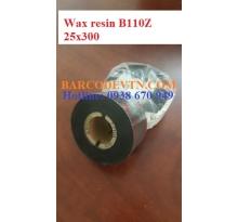 Mực in mã vạch wax resin B110Z 25×300