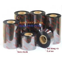 Mực in mã vạch wax Ricoh B115W 50mm x 300m