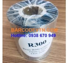 Mực in tem nhãn mã vạch Ribbon Resin R300 kích thước 70×300