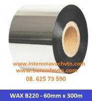 Ribbon mực in mã vạch wax B220 60×300