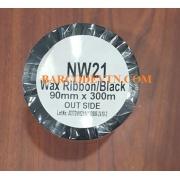 Ribbon mực in mã vạch wax Premium 90×300 màu đen