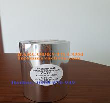 Ribbon mực in mã vạch wax premium CW121 110×300