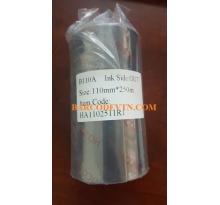 Ribbon mực in mã vạch wax resin B110A 110mm x 250m