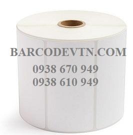 Giấy decal in mã vạch 100×50 pvc cuộn nhãn 50m